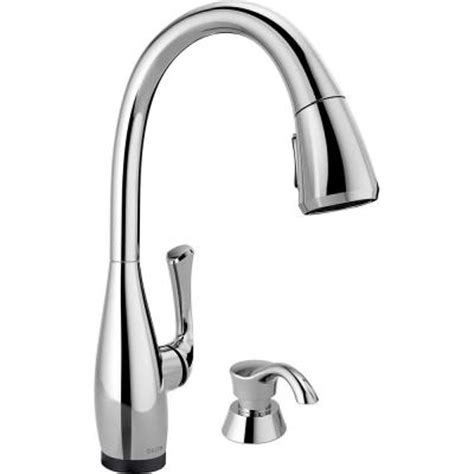 delta kitchen faucets touch faucet home depot contemporary delta dominic single handle pull down sprayer kitchen