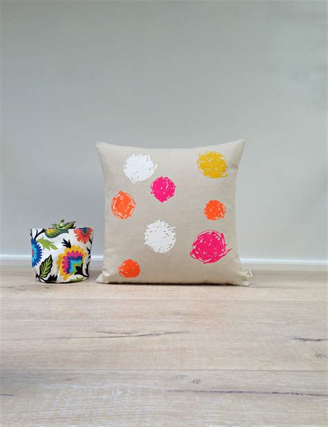 Smanate 02 Cushion Cover White Pink cushion cover pillow cover white pink orange yellow