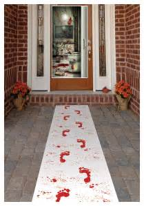 How To Decorate Your House For A Halloween Party Bloody Footprints Runner