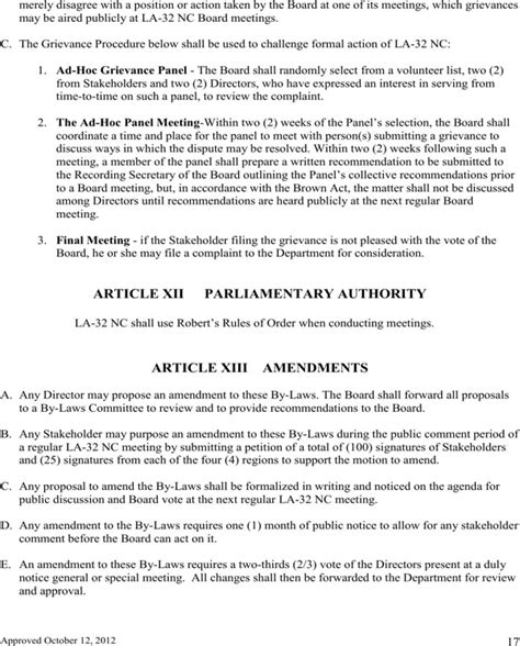 bylaw template bylaws template for free page 17 formtemplate
