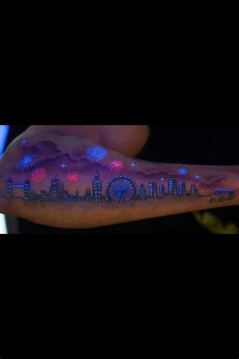 glow in the dark skyline tattoo wow i m never getting one but if i were it would def
