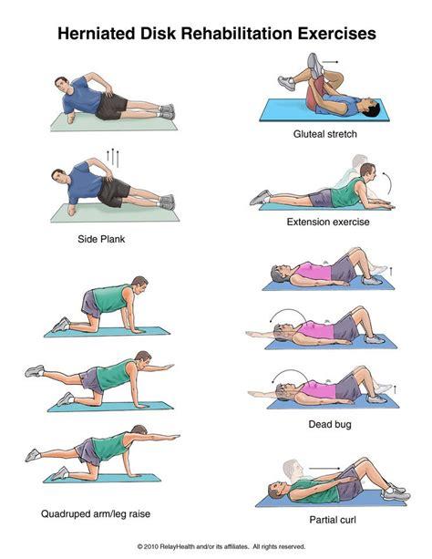 herniated disk exercises fitness spondylolisthesis physical therapy exercises physical therapy
