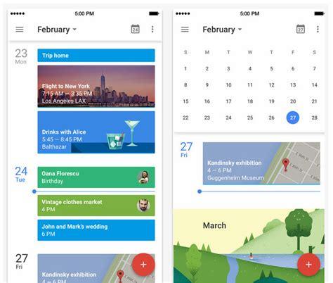 google calendar design update updated google calendar app with material design ui new