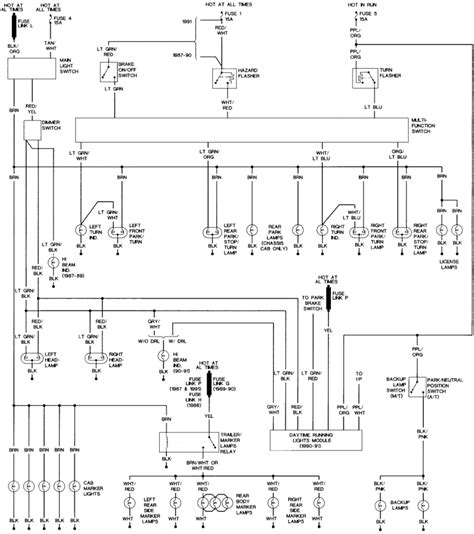 1989 w250 light wire colors wiring diagram schemes