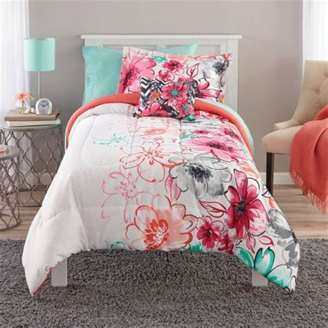 watercolor comforter mainstays watercolor floral bed in a bag comforter set