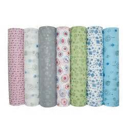 printable fabric roll tabby printed nonwoven from huzhou auline sanitary