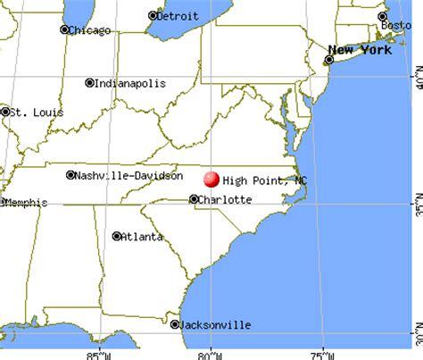 high point nc map high point carolina nc profile population maps