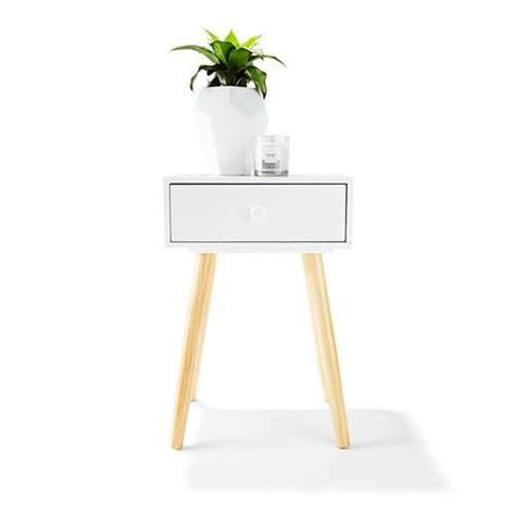 white side table with drawer 2 toned side table with drawer white home
