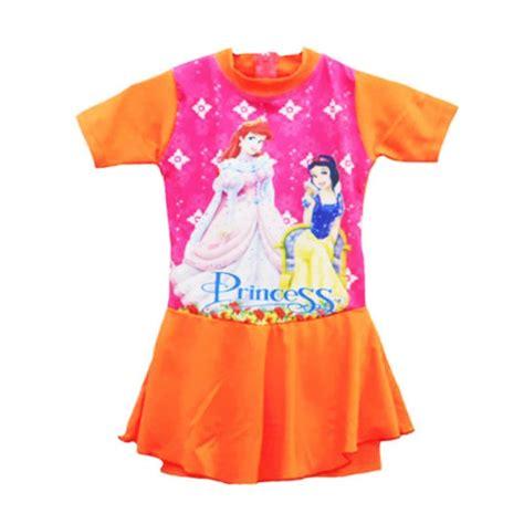 Rok Anak Motif Garis jual motif princess baju rok renang anak orange