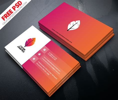 4 side free psd business card templates actions professional business card psd free