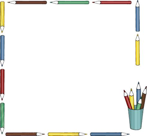 clipart borders school supplies clipart border clipground