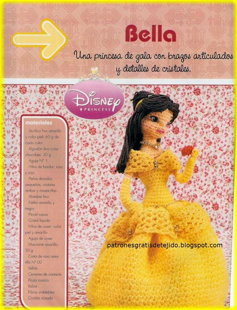 patrones gratis princesa gorjuss fomiart amigurumi la princesa bella de disney al crochet