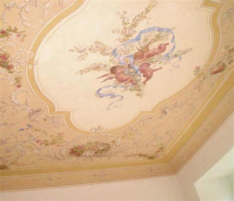 soffitto decorato decoratore restauratore massimo zaninelli decorazioni