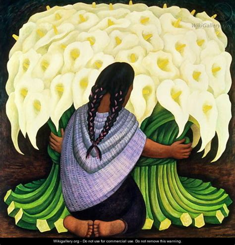 diego painting the flower seller 1942 diego rivera wikigallery org