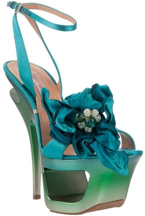turquoise flower shoes gianmarco lorenzi satin flower platform sandals in blue