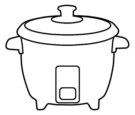 Rice Outline by Clipart Rice Cooker Clipground