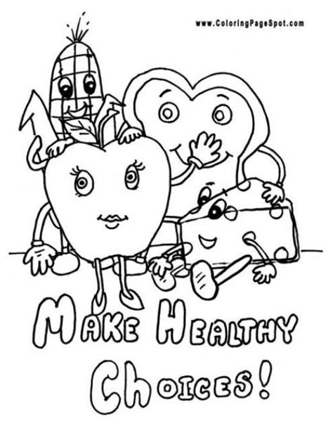 health coloring pages preschool free coloring pages