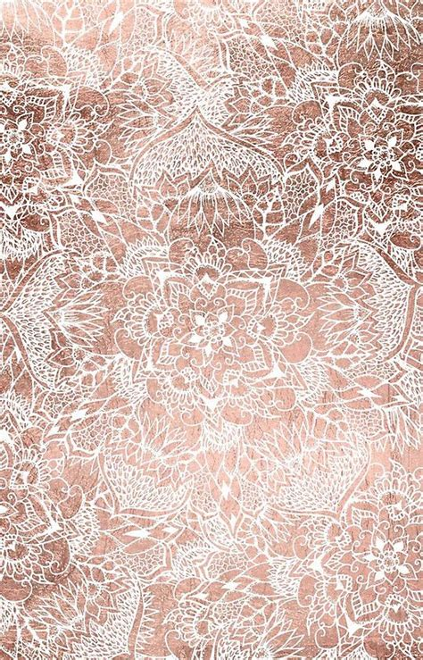 ipad wallpaper rose gold modern faux rose gold floral mandala hand drawn iphone 7