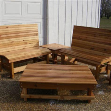 Western Cedar Outdoor Furniture Western Red Cedar Outdoor Furniture Set From
