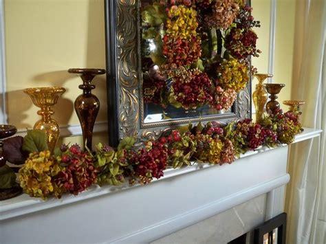 qvc fall decorations autumnal hydrangea wreath or garland h200916 mercury