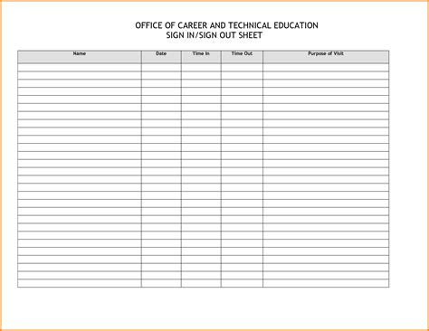 bathroom sign out sheet template music resources pinterest