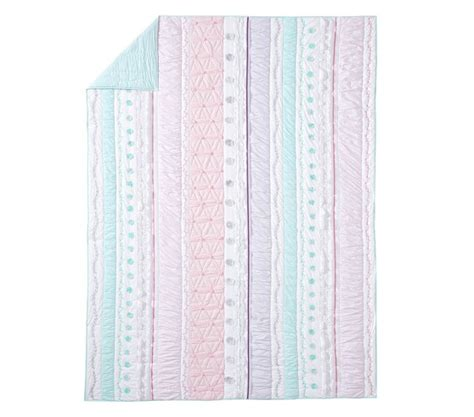 bailey ruffle quilted bedding pottery barn