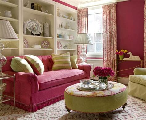 pink and modern living room design for trend 2013
