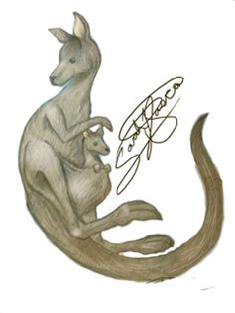 aussie kangaroo tattoo design by gbftattoos on deviantart free kangaroo clip images kangaroo