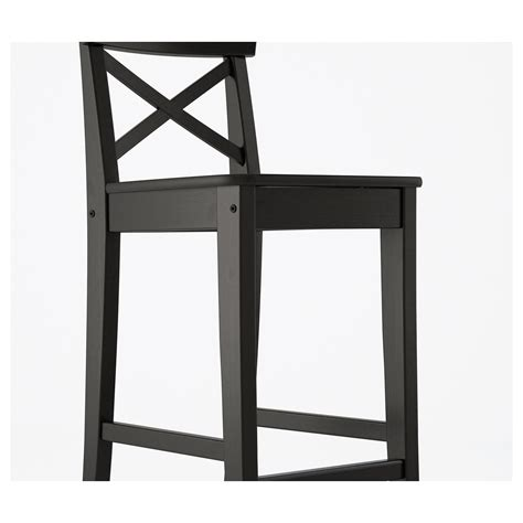 Ingolf Bar Stool With Backrest Brown Black by Ingolf Bar Stool With Backrest Brown Black 63 Cm Ikea