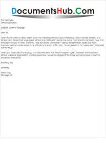 Sle Business Apology Letter To Employer Apology Letter To Documentshub