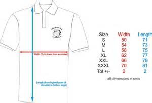 mens polo t shirt size chart