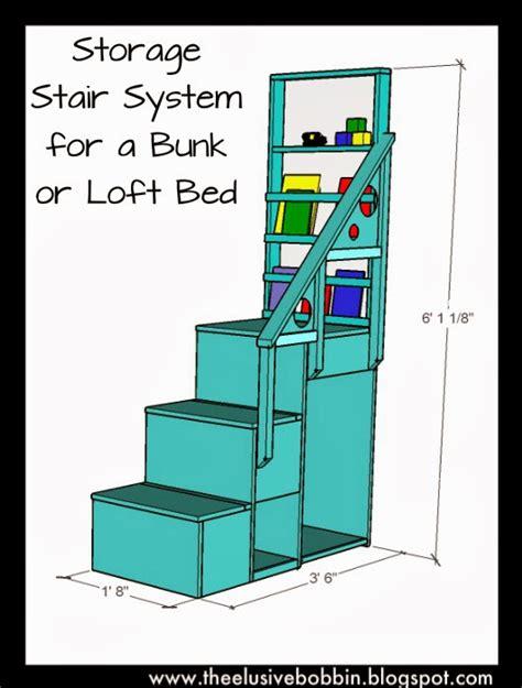 elusive bobbin storage stair system   bunk