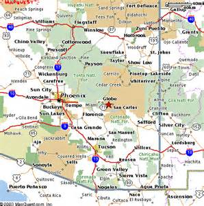 show me a map of arizona the arizona section society for range management map to