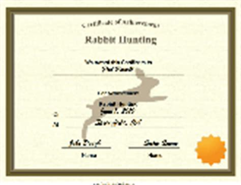 rabbit birth certificate template child care certificate printable certificate