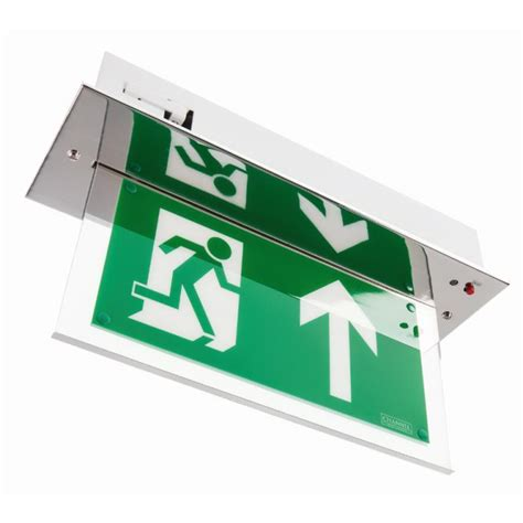 Hanelle Exit channel vale chrome maintained led emergency exit sign