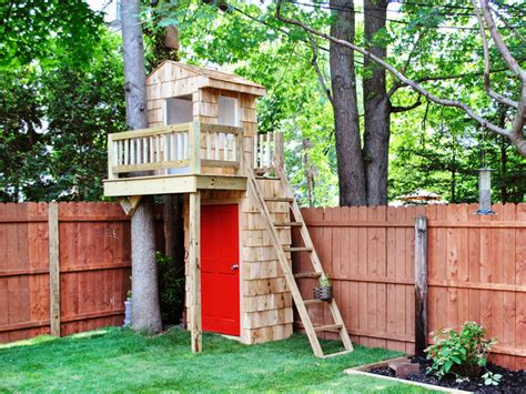 tiny tree house backyard for kids on pinterest sandbox outdoor play