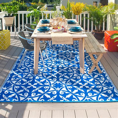 outdoor rug fab hab san juan outdoor rug in blue fab hab