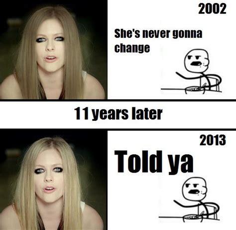 Avril Lavigne Meme - avril memes meme tastic pinterest