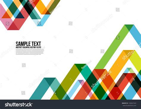 layout poster vector abstract colorful triangle pattern background cover stock