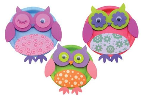 Owl Paper Plate Craft - paper plate owl craft