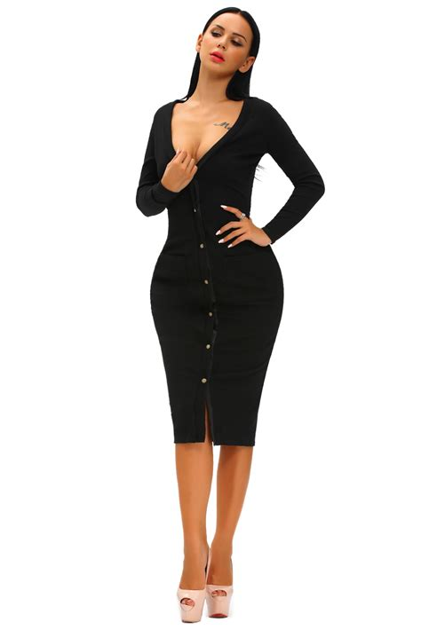 Ribbed Cardigan Dress black button up ribbed midi cardigan dress