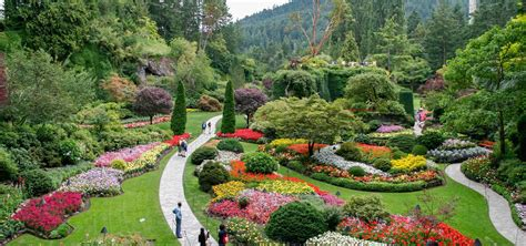 pictures of a garden butchart gardens tour from seattle victoria hotel