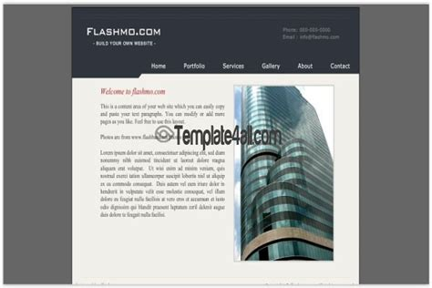 free design business flash website template