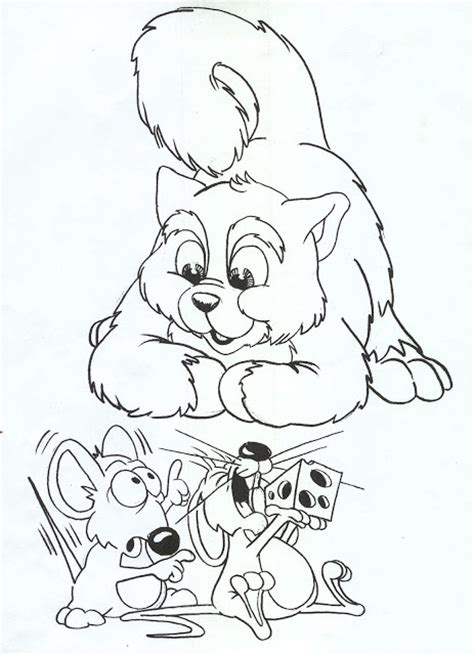 coloring pages cat and mouse printable coloring pages october 2012