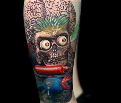 mars attack alien tattoo by nikko hurtado no 801