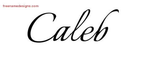 calligraphic name tattoo designs caleb free graphic free
