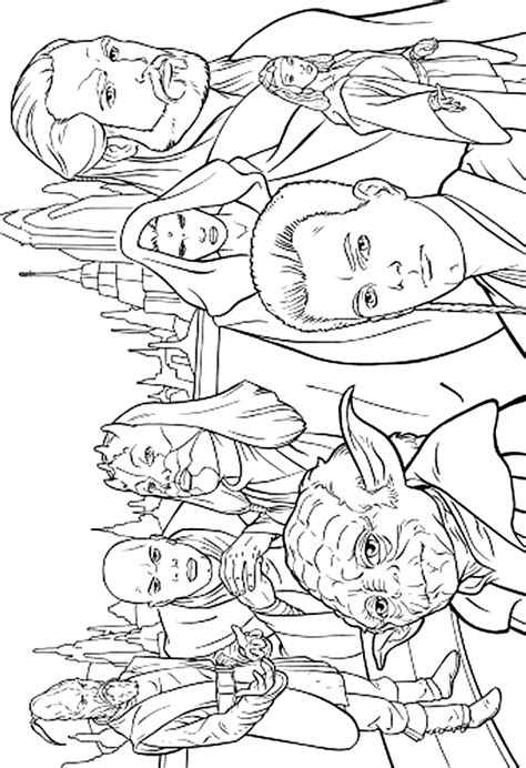 Wars Characters Coloring Pages wars 999 coloring pages make draw