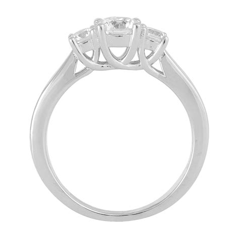 sterling silver cubic zirconia three promise ring