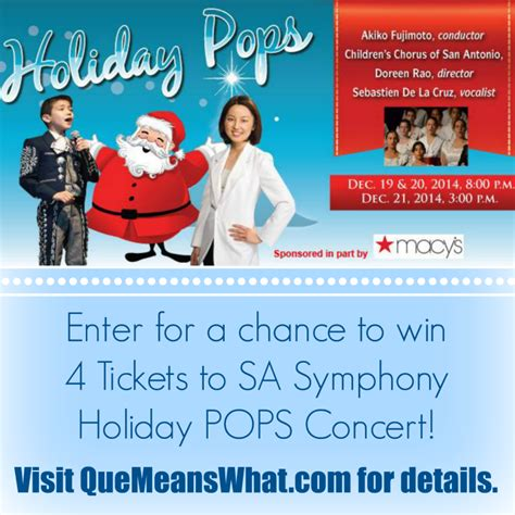 Concert Ticket Giveaways - sa symphony holiday pops with mariachi sebastien de la cruz ticket giveaway holidaypops