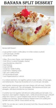 Go Bananas For Dessert Tonight by 1000 Ideas About Banana Split Dessert On